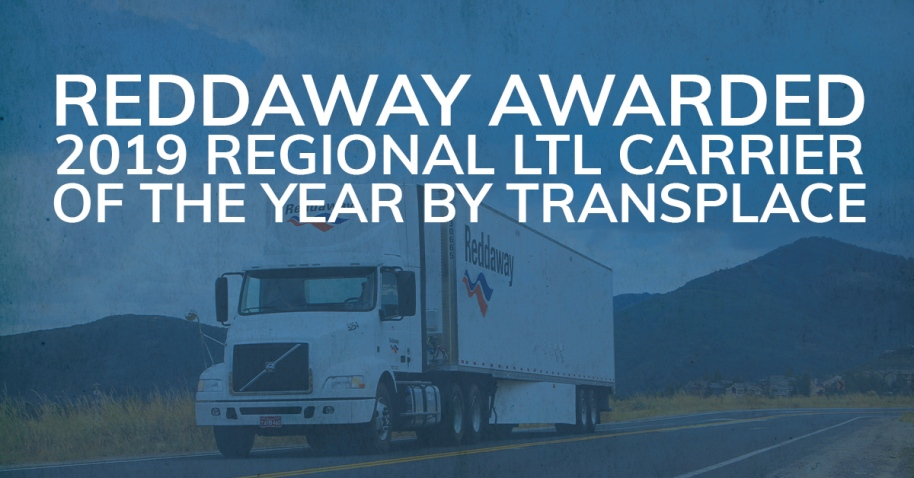 Reddaway awarded 2019 Regional LTL Carrier of the Year by Transplace